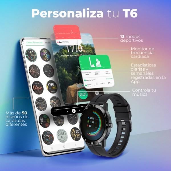 Reloj inteligente T6 Acero Inox-4