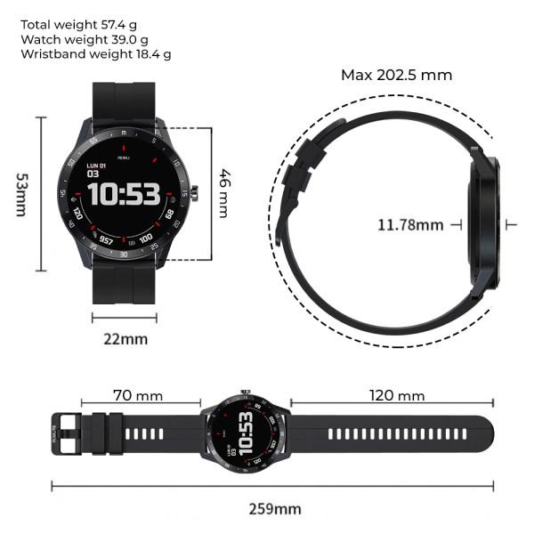 Reloj inteligente T6 Naranja-1