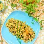 Warm barley and shiitake salad