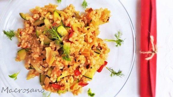 Salteado de arroz e hinojo (1)