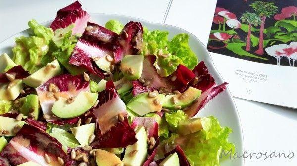 ensalada de achicoria roja y aguacate con aliño de dátiles (2)
