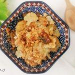Pastel de shitake y coliflor con bechamel de tofu