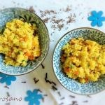Mijo con verduras salteadas al comino