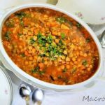 Sweet chickpeas and vegetable stew