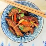 Oriental seitan and vegetable stir fry