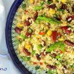 Ensalada fresca de arroz y alubias