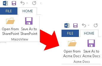 Customizing to replace SharePoint with Acme Docs