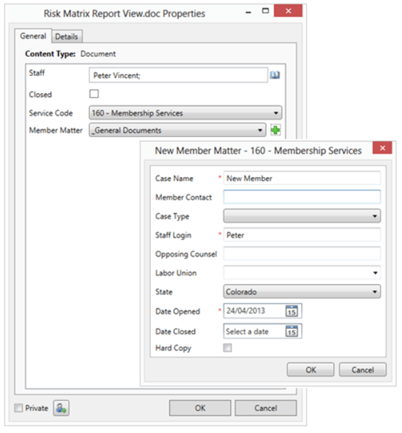 Customized Profiling Dialog