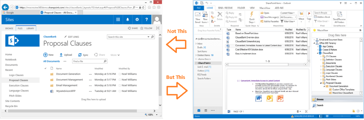 MacroView DMF makes SharePoint feel as familiar as a File Share