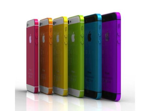 Rumored iPhone 5S with colours