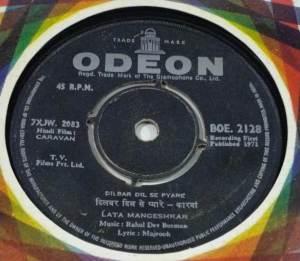 Caravan Hindi Film EP Vinyl Record by R D Burman www.macsendisk.com 2