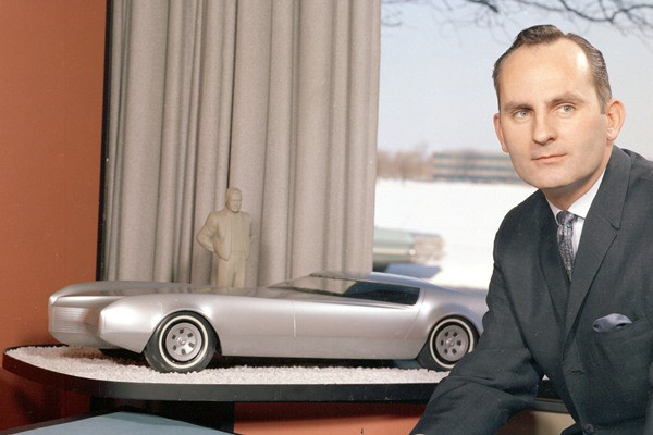 GM stylist Chuck Jordan with an Eldorado studio model