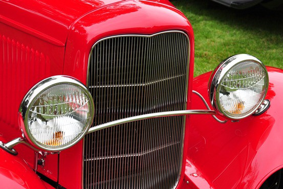 Jim and Jamie Nichols 1932 Ford filled grille shell