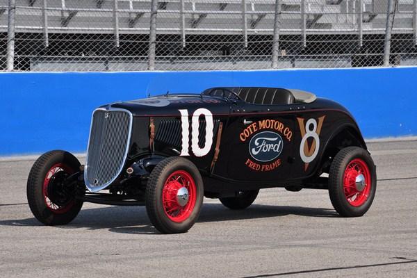Dana Mecum 1933 Ford roadster Fred Frame racer