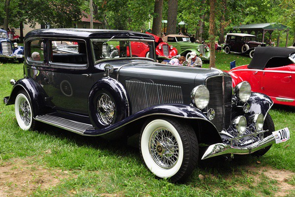 Bill and Barbara Parfet 1933 Auburn 12-165 Salon Brougham