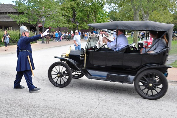 Policeman with Model T Ford Touring