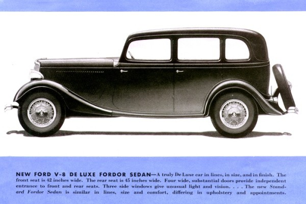 1933 Ford Deluxe Fordor Sedan rendering