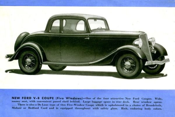 1933 Ford Five Window Coupe rendering no cowl lamps