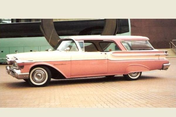 1957 Mercury Commuter Station Wagon WPC pink