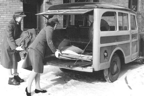 1947 Willys Station Wagon Toledo Red Cross