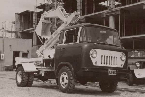 Willys FC dualie backhoe front view