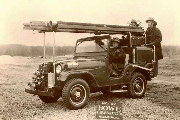 Willys Jeep CJ-5 Howe fire truck