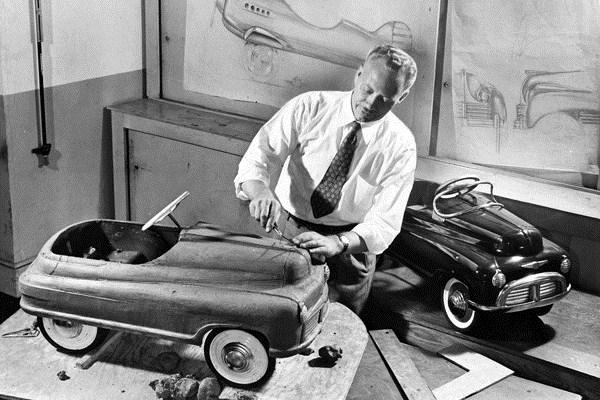 1948 Murray pedal car clay model