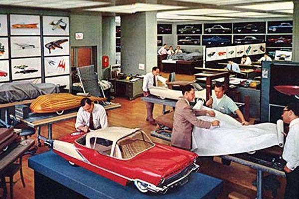 1952 Ford studio with Volcano idea car