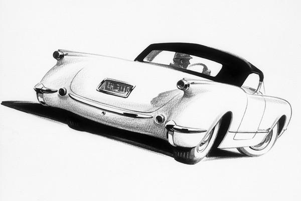 1953 Chevrolet Corvette Sketch