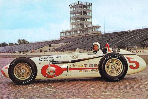1959 Watson Offy Rodger Ward Leader Card '59 Indy 500 winner