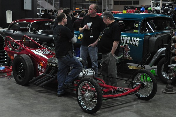 Chassis Research-style dragster