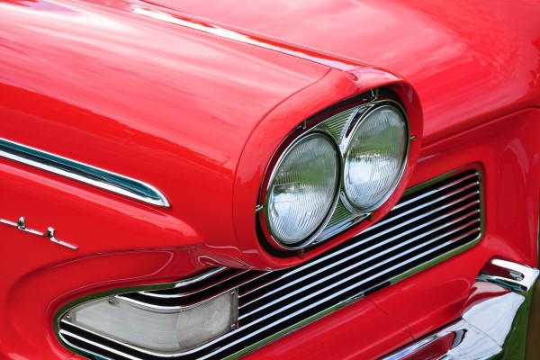 1958 Edsel Pacer Convertible Herb Wiese headlamp