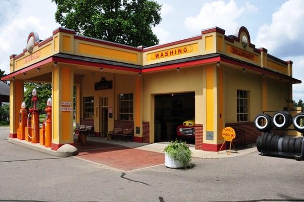 vintage Shell service station