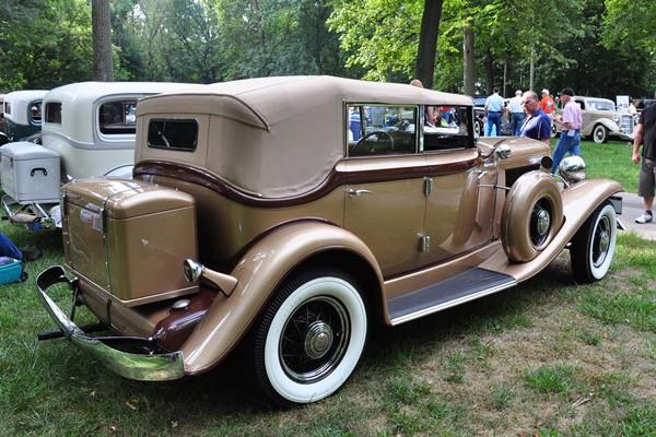 1933 Auburn 8-105A Phaeton Allan and Patricia Hatch rear