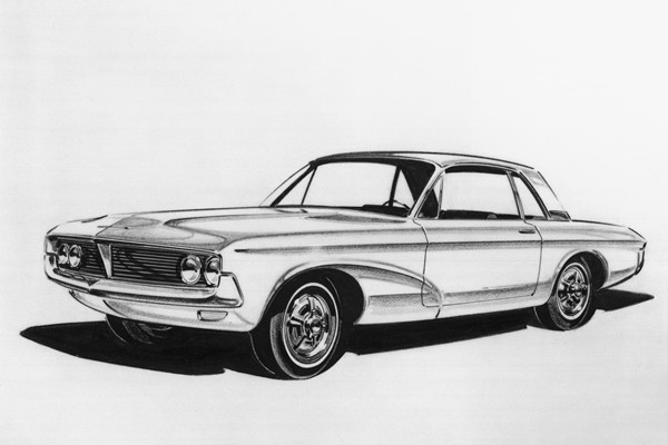 Ford styling sketch 1962