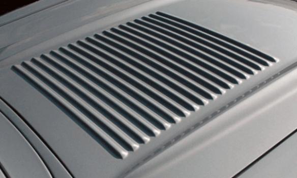 1958 Corvette washboard hood 18 louvers