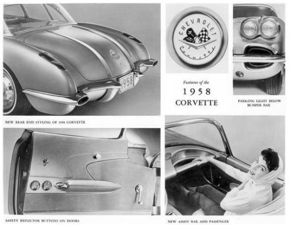1958 corvette features panel