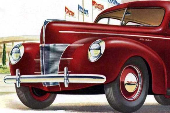 1940 Ford Deluxe front doghouse