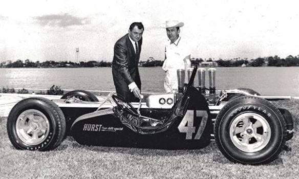 George Hurst and Smokey Yunick with capsule car