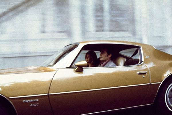 driving a 1974 Firebird in the Rockford Files
