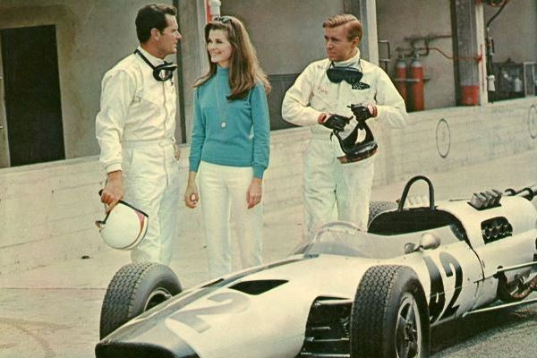 with Jessica Walter and Brian Bedford in Grand Prix