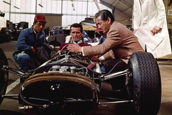 with Toshiro Mifune in Grand Prix