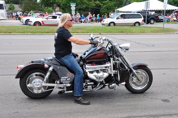 Big Block Boss Hoss V8 motorcycle