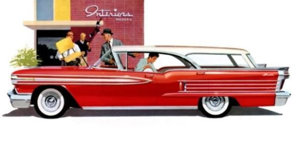 1958 Oldsmobile Super 88 Fiesta Station Wagon red
