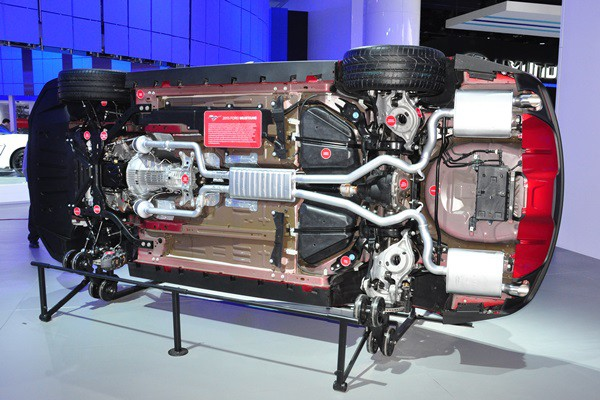 2015 Ford Mustang undercarriage