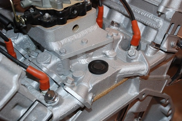 Cadillac V12 intake manifold detail with heliarc welding