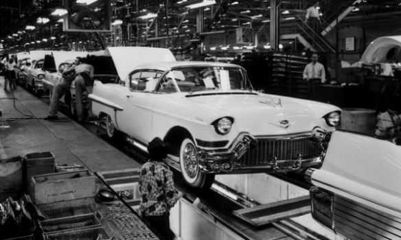 1957 Cadillac Clark St. assembly line