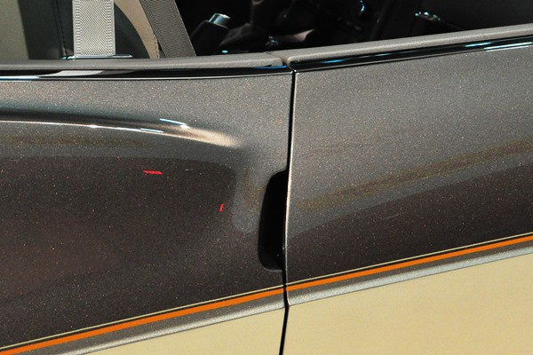 Corvette door handle detail