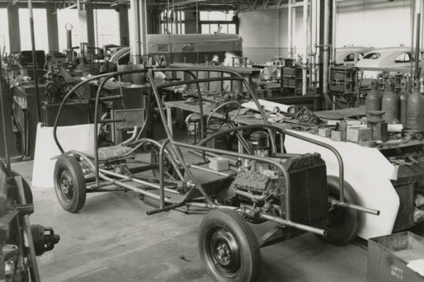 soybean car chassis right front