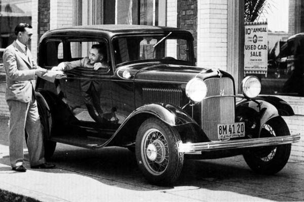 1932 Ford Victoria dealer delivery